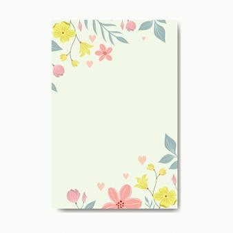 Bordure florale de couleur pastel