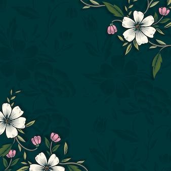 Bordure florale avec espace de copie