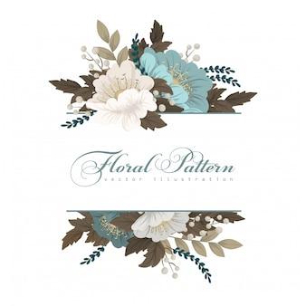Bordure florale verte menthe