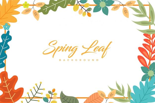 Bordure de fond de feuille de printemps