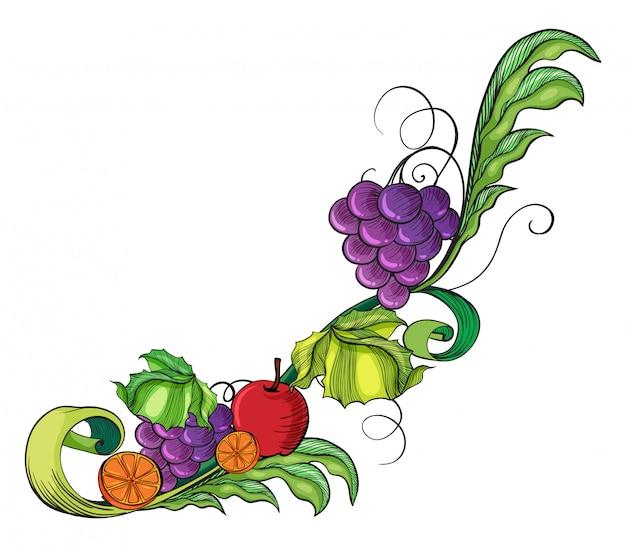 Une bordure fruitée