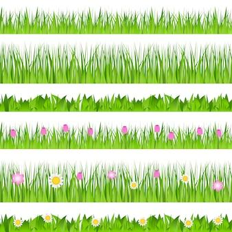 Bordure d'herbe sans soudure
