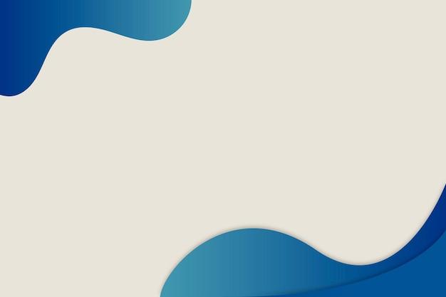 Bordure incurvée bleue sur fond simple