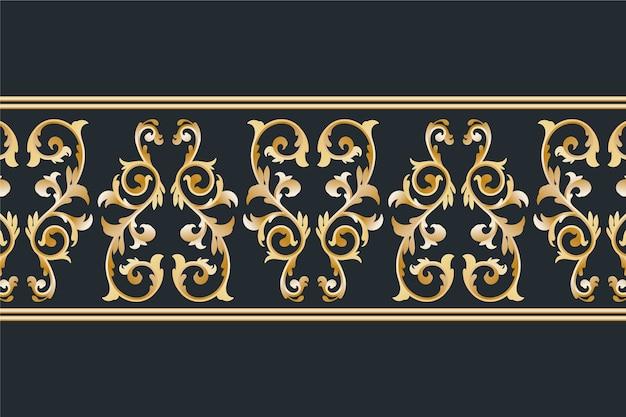 Bordure ornementale dorée