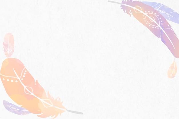 Bordure de plumes aquarelle