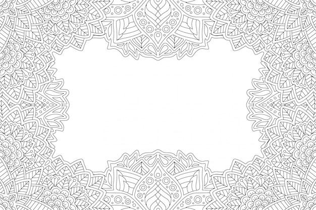 Bordure pour cahier de coloriage avec floral