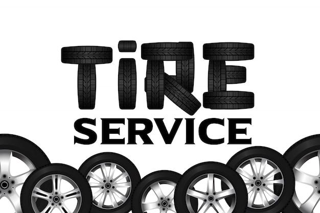Bordure sans couture de roue de service de pneu