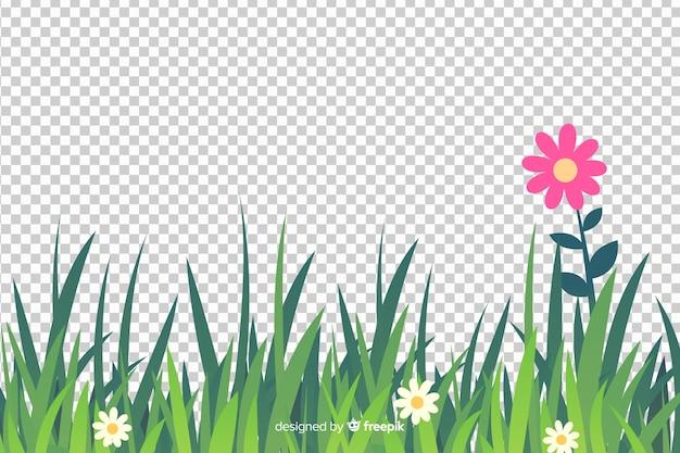 Bordure de style réaliste d'herbe