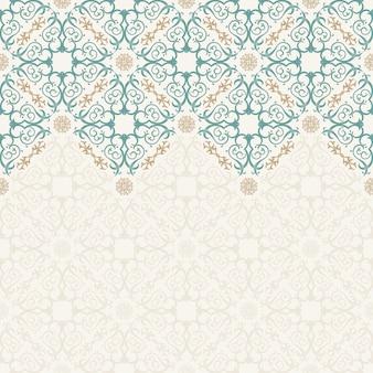 Bordure transparente ornée de style oriental