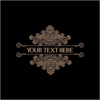 Bordure vintage zone de texte premium psd