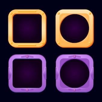 Bordures d'avatar de l'interface utilisateur de jeu brillant drôle
