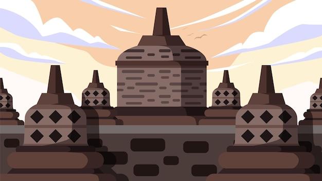Borobudur - célèbre monument