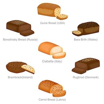 Borodinsky bara rapide et le célèbre pain unique des pays