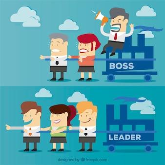 Boss et chef notion