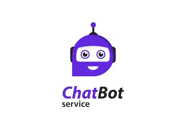 Bot de chat plat pour la conception marketing. icône de messagerie instantanée. icône d'assistance ou de service. chat bot dans un style plat. consultation en ligne. robot de service d'assistance.