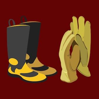 Botas et guantes de proteccion