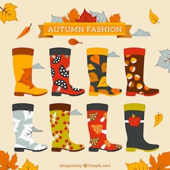 Bottes de mode de l'automne