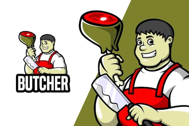 Boucher - modèle de logo de mascotte