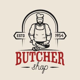 Boucherie. élément pour logo, étiquette, emblème, signe, affiche. illustration