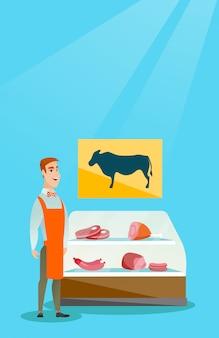 Boucherie offrant de la viande fraîche dans la boucherie.