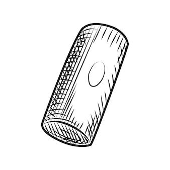 Bouchon de bouteille de vin de raisins. bouchons de liège isolés sur fond blanc. style de gravure. illustration vectorielle