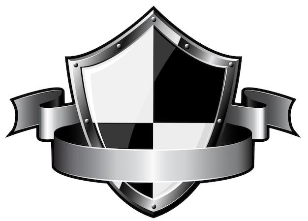 Bouclier en acier avec ruban