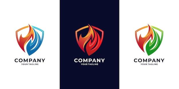 Bouclier anti-feu et logo énergétique