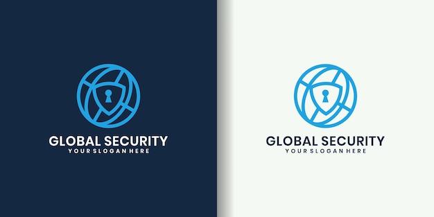 Bouclier avec création de logo globe et entreprise
