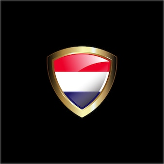 Bouclier de drapeau de hollande