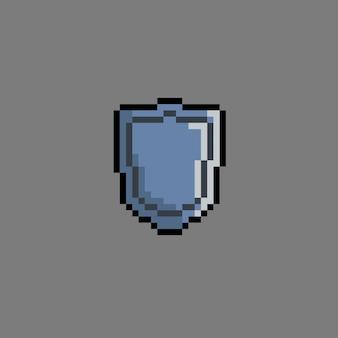 Bouclier de fer avec style pixel art