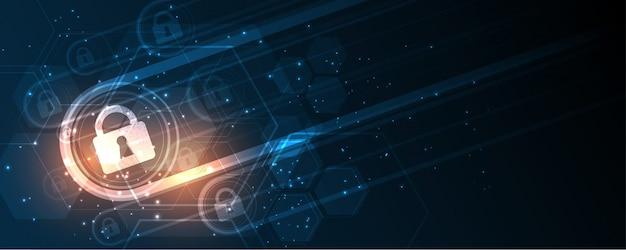 Bouclier de garde protégé sécurité sécurité cyber numérique résumé technologie fond