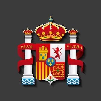 Bouclier icône classique de la culture espagnole
