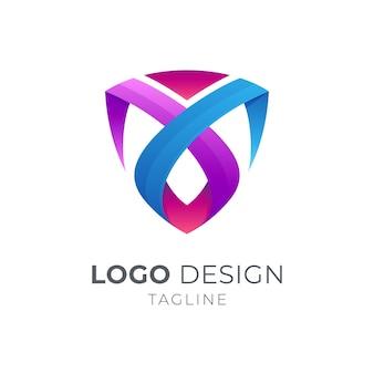 Bouclier lettre m logo