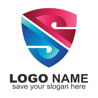 Bouclier avec lettre s logo
