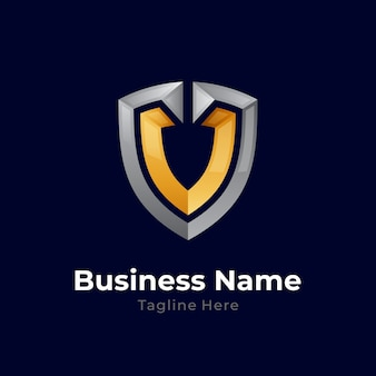 Bouclier lettre v logo