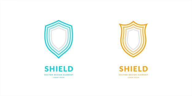 Bouclier linéaire un symbole de sécurité et de fiabilité illustration vectorielle minimaliste