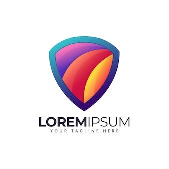 Bouclier logo coloré moderne