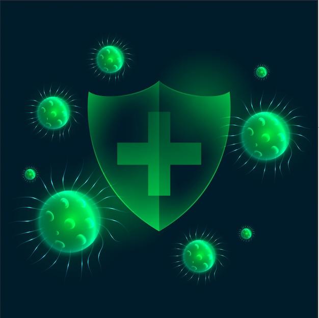 Bouclier de protection antivirus résistant aux virus pour entrer