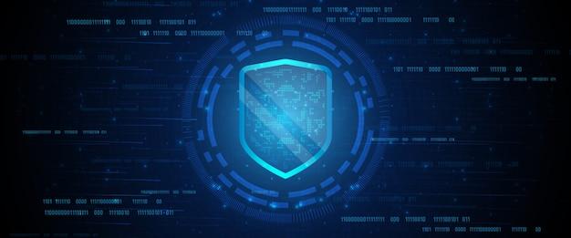 Bouclier de protection des données en ligne et résumé avec la technologie informatique