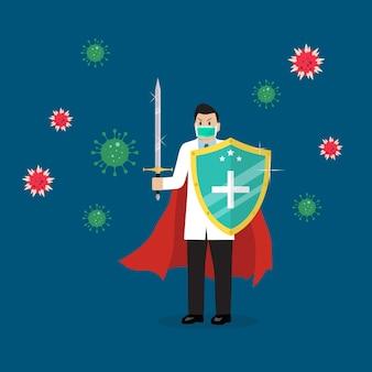 Bouclier protégeant les icônes de virus