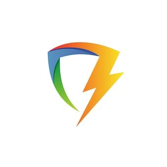 Bouclier de tonnerre logo vector