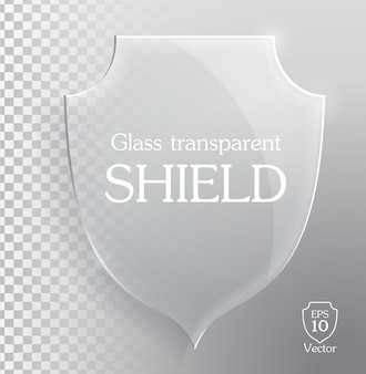 Bouclier en verre transparent