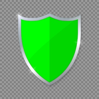 Bouclier vert.