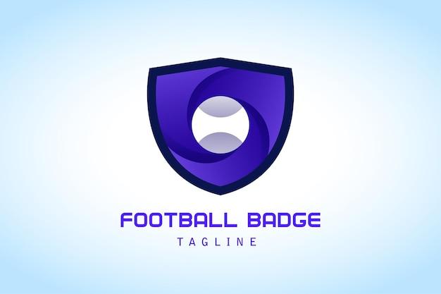 Bouclier violet avec logo dégradé boule blanche