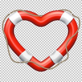 Bouée de sauvetage de coeur.