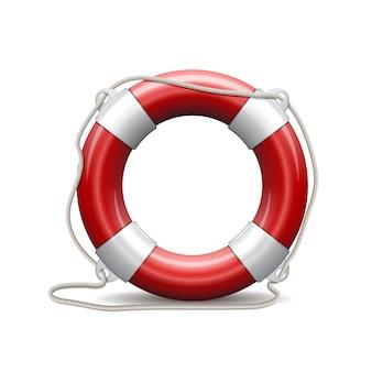 Bouée de sauvetage rouge.