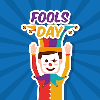 Bouffon de masque de clown drôle