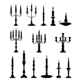 Bougeoir candlestick lustre classique ornement