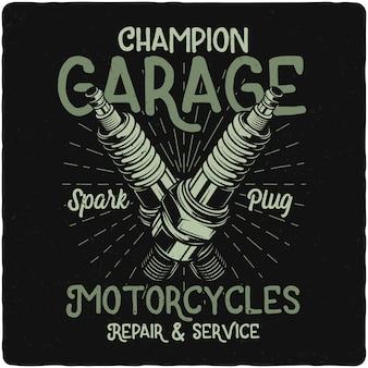 Bougie d'allumage de moto