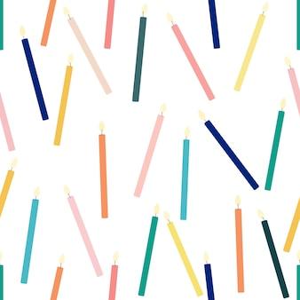 Bougies de couleur plate fond transparent isolé illustration vectorielle. conception de célébration. toile de fond festive. décoration d'anniversaire.